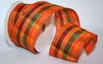 "2 1/2"" Fall Fancy Plaid Ribbon - Wired Edge (#99941W)"