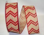 "2 1/2"" Bi-Stripe Burlap Chevron - WE - 2 Colors (#92184)"