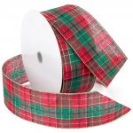 Splendor Plaid Ribbon - Wire Edge