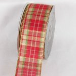 Metallic Tartan Ribbon - WE (#34122-156)