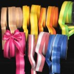 Fishbone Stripe Ribbon - Wire Edge