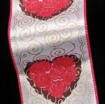 "2 1/2"" My Valentine Ribbon - Wire Edge"