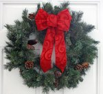 Red Enchanting Swirl Hand-Tied Bow (#1602)