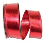 Red Lame Foil Metallic Two-Sided - Wire Edge