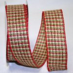 "1 1/2"" Woodsy Plaid Ribbon - Wire Edge"