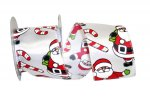 "2 1/2"" Santa Candy Canes Ribbon - Wire Edge"