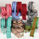 Stripes Ribbon - Wire Edge