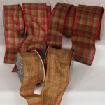Wired Plaid Ribbon (#32152-156)