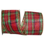 "2 1/2"" Renee Plaid Ribbon - Wire Edge"
