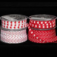 Hearts Printed Grosgrain (439-166-V)