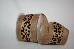 Natural Cheeta Ribbon - Wired (90697W)