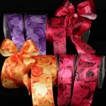 Rose Day Ribbon - Wire Edge