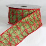 "2 1/4"" Red & Green Combo Ribbon - Wire Edge"