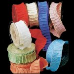 Gathered Taffeta Ribbon - Wire Edge