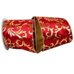 Scroll Plush Gold Back Velvet - Wire Edge