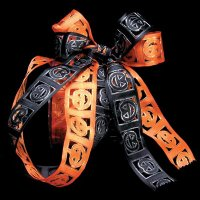 "1 1/2"" Embossed Pumpkin Ribbon - Wire Edge"
