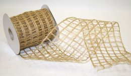 Metallic Jute Large Ribbon - Wire Edge