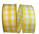 "2 1/2"" Celine Plaid Twill Ribbon Wire Edge"