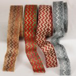 "2"" Sparkle Chevron Ribbon - Wire Edge"