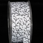 "5/8"" Inga's Black & White Grass Grosgrain (#42104-166)"