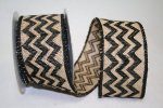 Burlap Chevron 2 Ribbon - Wire Edge