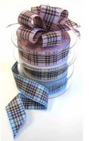 Morex Blackberry Plaid Ribbon