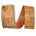 Wine Cork Cool Ribbon - Wire Edge
