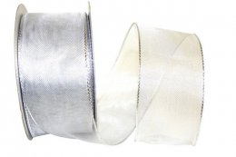 Woven Mesh Shiny Ribbon Wire Edge