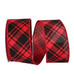 Buffalo Grand Plaid Diagonal Ribbon Wire Edge