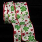Shamrock LadyBug Ribbon - WE (23181-156)