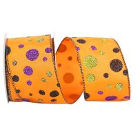 Halloween Dot 2 Ribbon Wire Edge