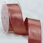 Gentlemen Metallic Ribbon - Woven Edge