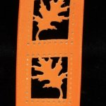 "1 1/2"" Maple Leaf Cut Out Ribbon - Wire Edge"