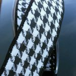 "1 1/2"" Black & White Houndstooth WE (#11-143-S)"