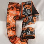 "2 1/2"" Trick or Treat Ribbon - Wire Edge"