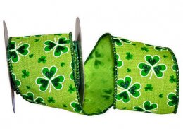 "2 1/2"" St Patricks Linen Delight - Wire Edge"